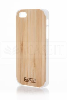 iCASEIT Wood iPhone Case - Genuinely Natural, Unique & Premium quality for iPhone 5 / 5S - Bamboo / White