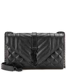 dfd674b60a754b Saint Laurent - Medium Tri-Quilt Monogram leather shoulder bag - Saint  Laurent's envelope-