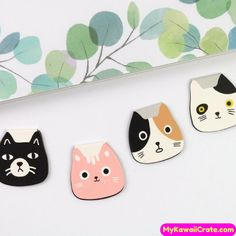 These Cute Meow Cat Magnetic Bookmarks will make you Smile while reading your favorite books MyKawaiiCrate.com  .  .  #cutecat #cat #bookmark #magneticbookmark #bookaccessories #bookclub #booklover #reading #read #schoolsupplies #study #student #books #myfavoritebooks #gatitos #gatos #katzen #papelaria #stationery #planner #bulletjournal #bujo #diary #officesupplies #catlover #cartooncat