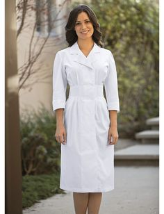 Summer Dress Slim Solid Color Nurses Coat Overalls Ms Doll Collar Lab Coat Pharmacy Thin Section