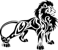 Lion tattoos have different meanings. Lions are proud and brave . - Lion tattoos have different meanings. Lions are proud and brave … – Lion tattoos have different - Tribal Animal Tattoos, Tribal Lion Tattoo, Tribal Drawings, Tribal Animals, Lion Tattoo Design, Tattoo Designs, Lion Design, Tattoo Ideas, Arte Tribal