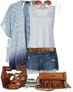 Plus Size Kimono Outfit - Plus Size Fashion for Women - Alexawebb.com #alexawebb