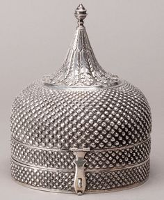 Mughal Court Silver Pandan Box. This and more important Asian art for sale on CuratorsEye.com