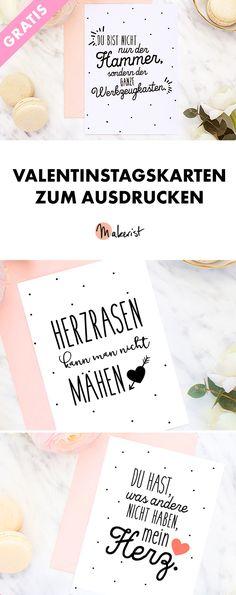 Selber Ausdrucken: Valentinstags-Karten zum Gratis-Download - Freebie via Makerist.de
