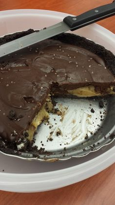 I used a pie pan instead of a tart pan....  I doubled the caramel layer and should have halved the ganache I think....  might have all worked better in a tart pan though...  doesn't matter - IT WAS AWESOME!! http://www.kevinandamanda.com/recipes/dessert/dark-chocolate-salted-caramel-oreo-pie.html