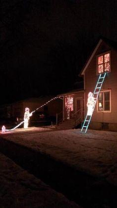 Fire Fighter Christmas lights