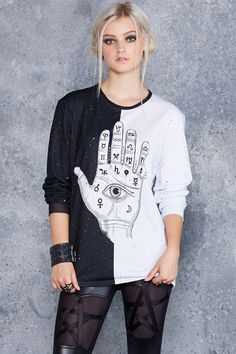 Palmistry Long Sleeve BFT - CAPPED PRESALE ($80AUD) by BlackMilk Clothing