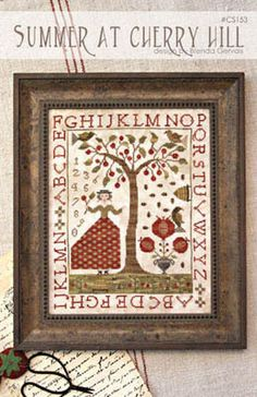 Summer at Cherry Hill - Cross Stitch Pattern by With Thy Needle and Thread Stitch Count: 154W x 197H