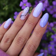 54 Perfect Short Acrylic Almond Nails Design For This Summer - Page 3 of 54 - Latest Fashion Trends For Woman - Pretty purple short almond nails design, short acrylic almond nails design, almond nails spring, al - Classy Almond Nails, Short Almond Nails, Purple Nail Designs, Almond Nails Designs, Almond Acrylic Nails, Best Acrylic Nails, Ten Nails, Lavender Nails, Minimalist Nails