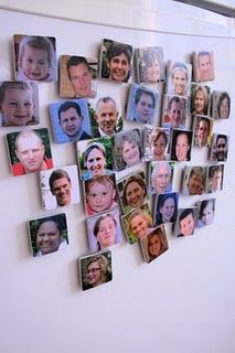 Family magnets to help Riley learn her relatives she doesn't get to see often.