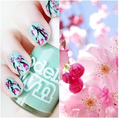 Gorgeous nail tutorial from http://www.makeupsavvy.co.uk/2012/03/notd-cherry-blossom-nails.html#