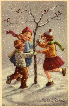 Miss Jane: Christmas Cards 1959 I love the old christmas cards Vintage Christmas Images, Old Christmas, Old Fashioned Christmas, Christmas Scenes, Retro Christmas, Vintage Holiday, Christmas Pictures, Christmas Greetings, Italian Christmas
