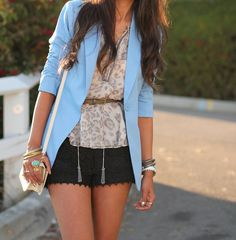 pretty blue jacket