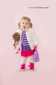 outfit for doc mcstuffins birthday party.........Kari Elizabeth photography #Doc Mcstuffins
