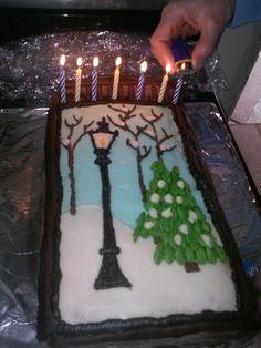 Narnia Party Wardrobe Cake