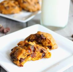 Today's Taste: The Best Oatmeal Pumpkin cookies - switched out the oil with applesauce to make these a bit healthier. Yum!