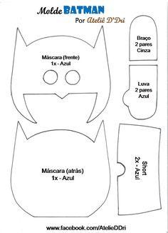 Mãe & Filha Artesanatos: Molde Batman em feltro_By Atelie D'Dri