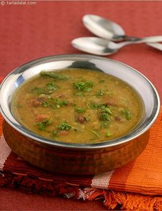 Darbari Dal, a combination of dal and veggies is flavoured with spices like ginger-garlic paste, green chillies, garam masala is sure to appeal to you. All the dals used are full of nutrients hence making this dal a healthy treat.