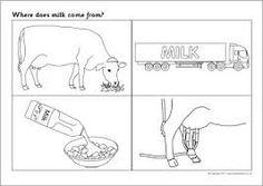 milk history now and then worksheet - Google Search Preschool Education, Kindergarten Science, Scarecrow Song, Five Senses Preschool, Farm Animals Preschool, Animal Cutouts, Farm Animal Birthday, Farm Unit, Health Unit