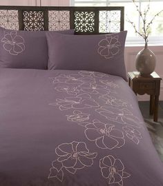 Mauve bedcover