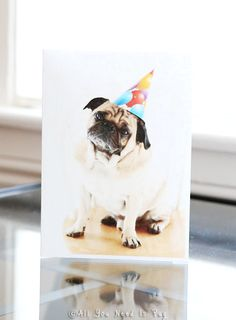 A Very Pugly Birthday Card by AllYouNeedIsPugShop on Etsy, $4.00 #allyouneedispug #pug #pugs #pets #dogs #birthday #birthdayparty #party #greetingcard #birthdaycard