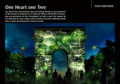 light art installation - naziha mestaoui projects virtual forests growing onto Paris monuments - designboom for the climate conference in paris, belgian artist naziha mestaoui will project 'one beat one tree' onto the city's famed monuments. Projection Installation, Interactive Installation, Projection Mapping, Interactive Art, Art Installations, Interactive Exhibition, Paris Monuments, Digital Projection, Sites Touristiques