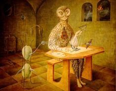 Creación de las aves, 1957. Oleo sobre masonite. 54x64cm. Museo de Arte Moderno. Surrealismo. Remedios Varo