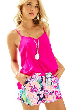 Lilly Pulitzer  ADIE SHORT in TIPPING POINT, BRIGHT NAVY