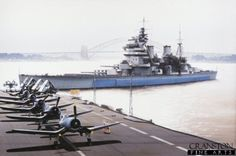 KGV type battleship HMS Anson and a aircraft carrier with (Vought Corsairs) on flight deck, prior to Norway in 1944 or Pacific 1945 Royal Navy, Us Navy, Hms Prince Of Wales, Heavy Cruiser, Capital Ship, Naval History, Armada, Flight Deck, Navy Ships