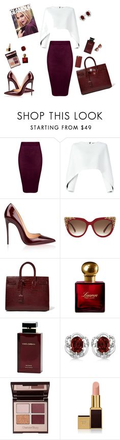 Office look by Diva of Cake  featuring mode, Balmain, Christian Louboutin, Yves Saint Laurent, Anne Sisteron, Allurez, MCM, Charlotte Tilbury, Tom Ford and Ralph Lauren