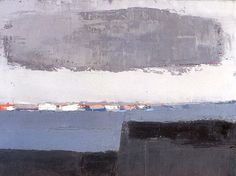 Honfleur, 1952 by Nicolas de Staël Abstract Landscape Painting, Landscape Art, Landscape Paintings, Abstract Art, Abstract Expressionism, Painting & Drawing, Action Painting, Knife Painting, Michael Borremans