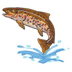 Free Embroidery Design: Rainbow Trout