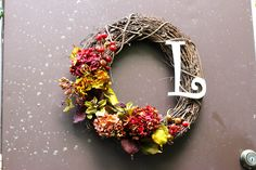 DIY Fall Wreath w/ Monogram | love & zest