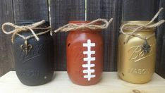 Distressed Mason Jars New Orleans Saints by ArnasLovelyBoutique