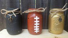 Distressed Mason Jars New Orleans Saints by ArnasLovelyBoutique