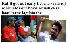 XD Virat And Anushka, Virat Kohli, Getting Out, Funny Images, Baseball Cards, Sports, Blue, Humorous Pictures, Hs Sports