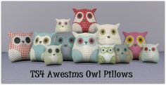 Sugar Coated Hell, Sims 4 Awesims Owl Pillow Recolors I hope you...