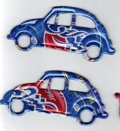 RECYCLED Soda Pop Can Volkswagen Car Ornament by RecycledSouvenirs