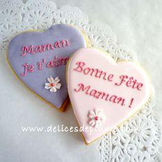 6 biscuits coeur Fête des Mères chez Les délices de Plume #delicesdeplume #marseille