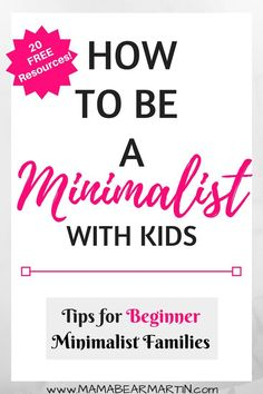 Want to be a Minimalist, but just aren't sure if Minimalism is possible with children? Read on to discover the best tips for becoming Minimalist with kids. Parenting Advice, Kids And Parenting, Minimalist Kids, Minimalist Living, Minimalist Lifestyle, Minimalist Parenting, Attachment Parenting, Thing 1, Wardrobe Ideas