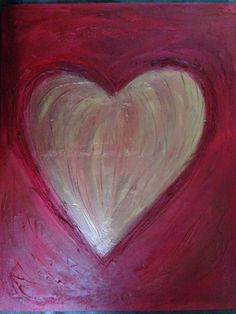 Loving Heart  22 by 26  Acrylic painting by KaufmanArt on Etsy, $128.80