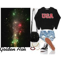 Fireworks #4 Happy 4th Of July 2015 by fashionsetstyler on Polyvore featuring polyvore fashion style Vans BaubleBar Shamballa Jewels