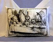 Alice In Wonderland Mad Hatter 39 S Tea Party Cushion Pillow