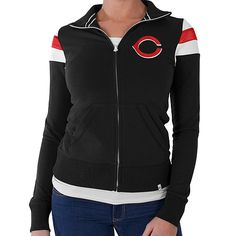Cincinnati Reds Women's Crossover Track Jacket by '47 Brand - MLB.com Shop