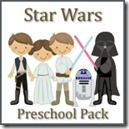 Our boys {may} have a slight obsession with any and all things Star Wars, so pulling together a Star Wars Preschool Pack was next on my list to finish up! Not a day goes by in our house that there are not light saber wars using anything possible