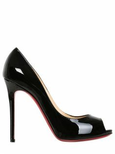 CHRISTIAN LOUBOUTIN - 120MM FLO PATENT LEATHER OPEN TOE PUMPS