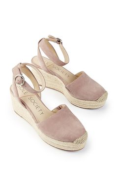 Pink suede espadrille wedge   Sole Society Channing