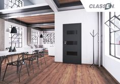 ASTERIA NL skrzydło drzwiowe okleinowane - konstrukcja: wypełnienie stabilizujące - płyta komórkowa,  ramiak z drewna iglastego - wykończenie: Classen Iridium, Classen CPL - profil krawędzi: Asteria NL (Hard Edge K) - trzy srebrne zawiasy czopowe wkręcane - zamek na klucz, łazienkowy, pod wkładkę patentową, zamek oszczędnościowy - szyba malowana, ASTERIA NL nieprzeźroczysta Colorimo, grafit