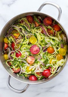 One Pot Zucchini Pasta- an easy, light and healthy meal made from summer's…