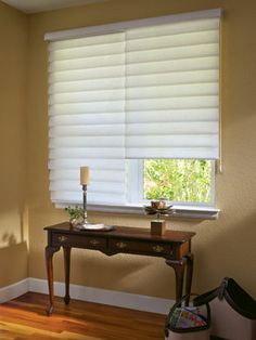 Modern Roman Shades feature consistent folds and no exposed rear cords, keeping windows uncluttered and safer. Home Decor Bedroom, Brown Front Doors, Contemporary Decor, Contemporary Kitchen Island, Bold Front Door Colors, Contemporary Windows, Contemporary Window Treatments, Custom Window Treatments, Modern Roman Shades